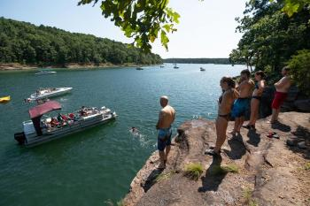 Family and Friends Cliff Jumping