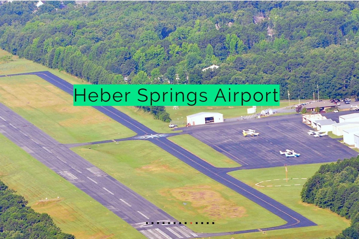 Aerial view of Heber Springs Airport