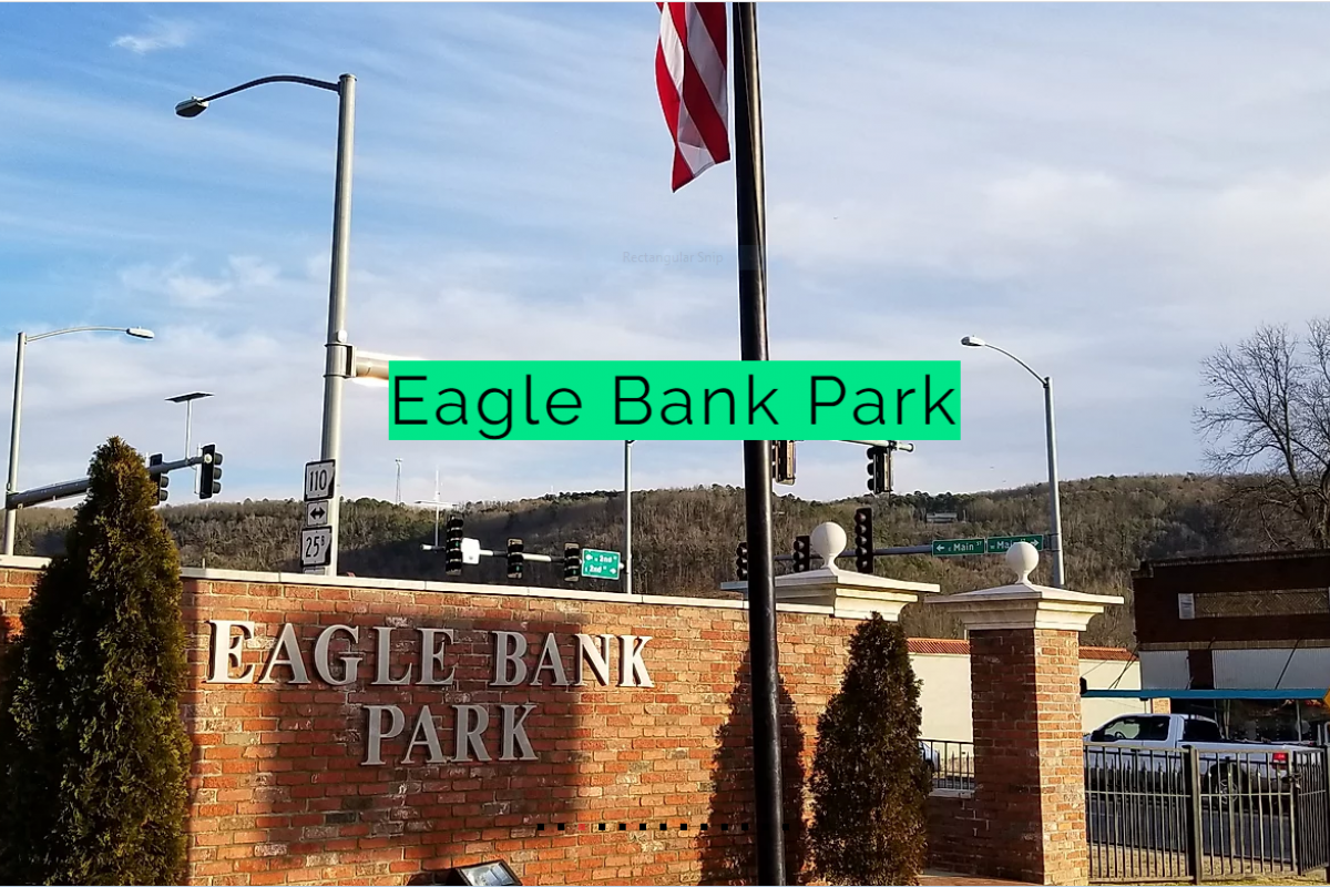 Sign in front of Eagle Bank Park