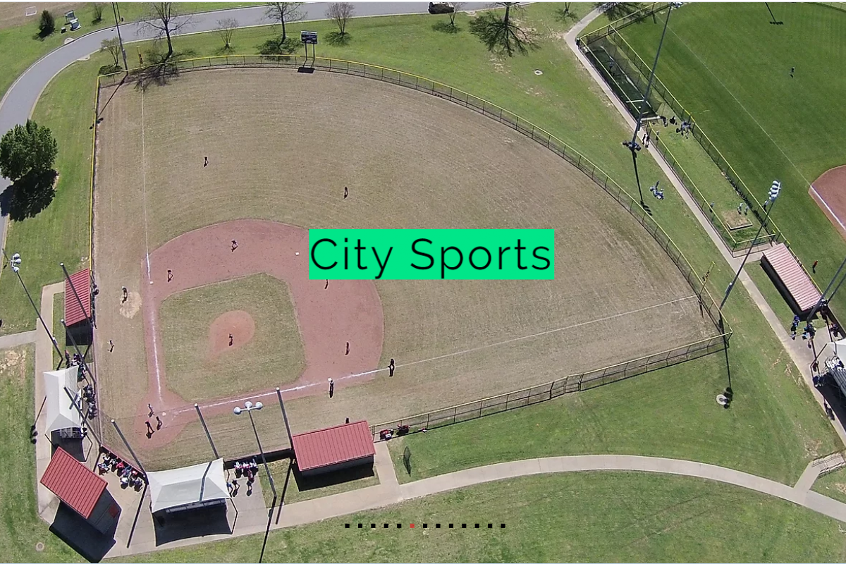 Aerial View of City Sports Field