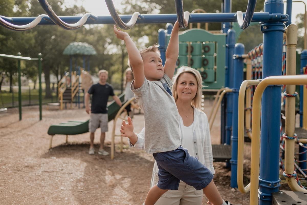 Family at Spring Park Playground