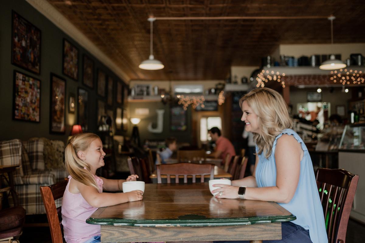 Jitterbug coffee mom and daughter