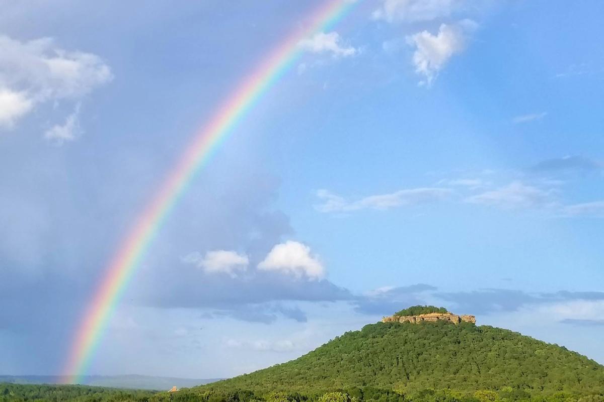 Sugarloaf Mountain under the Rainbow