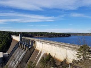 Dam at the lake