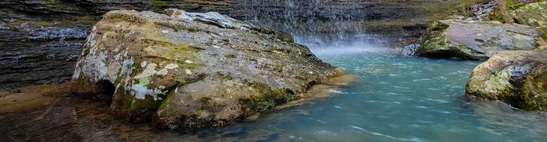Pool at bottom of Bridal Veil Falls